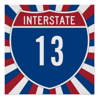 Interstate 13 poster