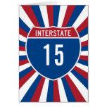 Interstate 15 greeting card