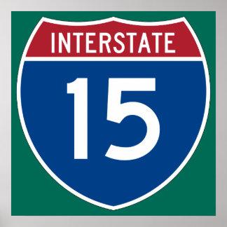 Interstate 15 (I-15) Highway Sign