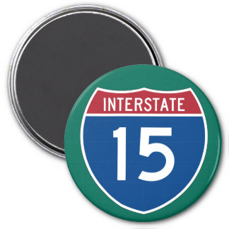 Interstate 15 (I-15) Highway Sign Magnet