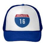 Interstate 16 mesh hats
