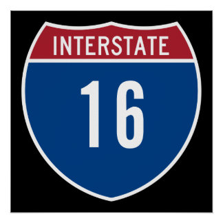 Interstate 16 poster