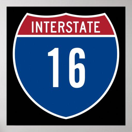 Interstate 16 print