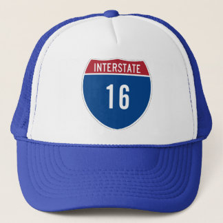 Interstate 16 trucker hat