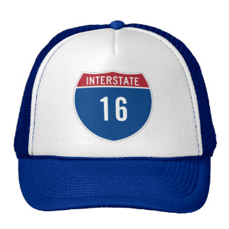 Interstate 16 trucker hat