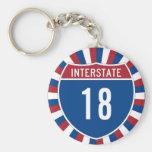 Interstate 18 keychain