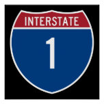 Interstate 1 posters