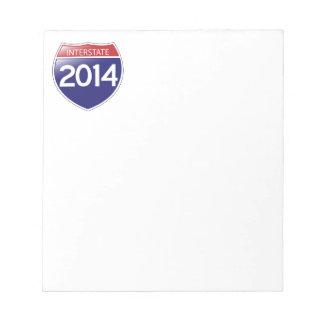 Interstate 2014 note pad