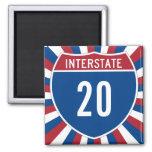 Interstate 20 fridge magnet