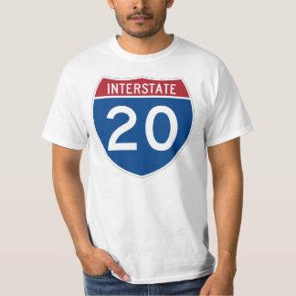 Interstate 20 (I-20) Highway Sign T-Shirt