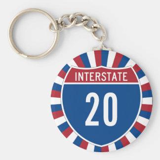 Interstate 20 keychain