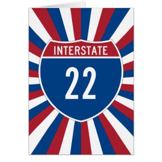 Interstate 22 greeting card