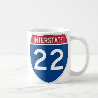 Interstate 22 Highway Sign Coffee Mug