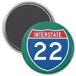Interstate 22 (I-22) Highway Sign Magnet