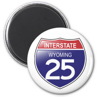 Interstate 25 in Wyoming Magnet