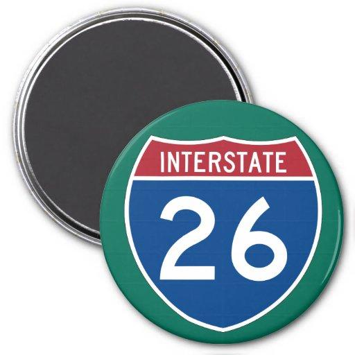 Interstate 26 (I-26) Highway Sign Refrigerator Magnets