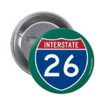 Interstate 26 (I-26) Highway Sign Pin