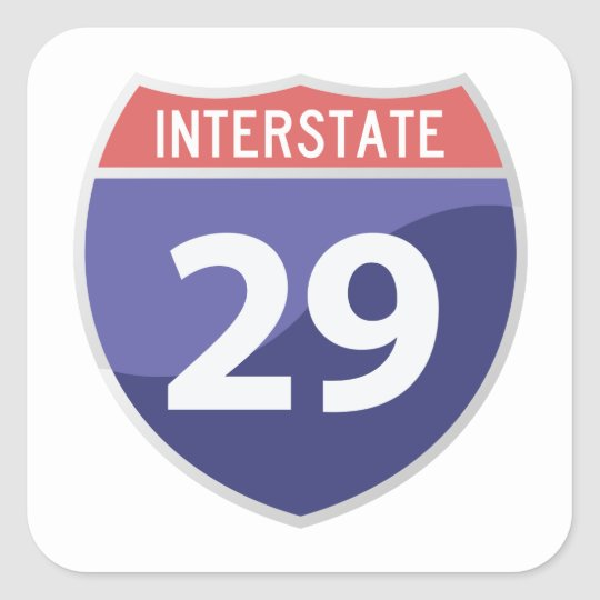 Interstate 29 (I-29) Road Trip Travel Sticker