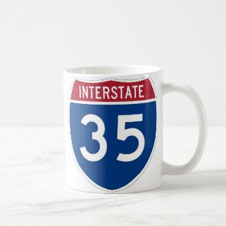 Interstate 35 Highway Sign Coffee Mug