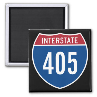Interstate 405 2 inch square magnet