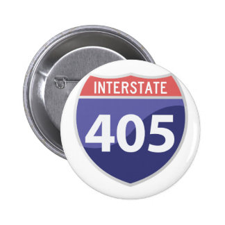 Interstate 405 (I-405) Calif. Highway Road Trip Button