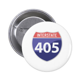 Interstate 405 (I-405) Calif. Highway Road Trip Pinback Button
