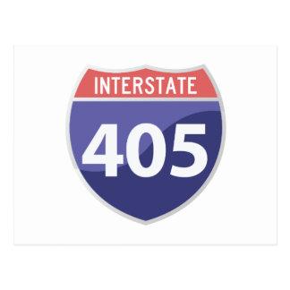 Interstate 405 (I-405) Calif. Highway Road Trip Postcard