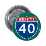 Interstate 40 (I-40) Highway Sign Pin
