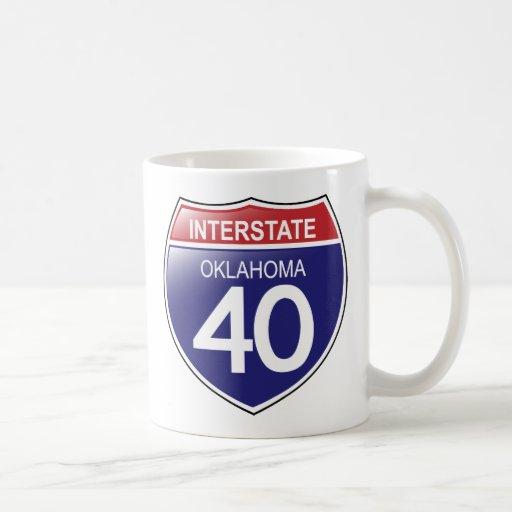 Interstate 40 in Oklahoma Mug