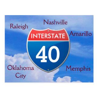 Interstate 40 - postcards