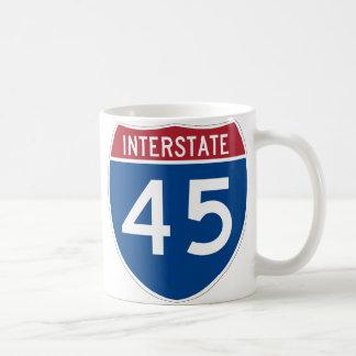 Interstate 45 (I-45) Highway Sign Coffee Mug