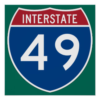 Interstate 49 (I-49) Highway Sign