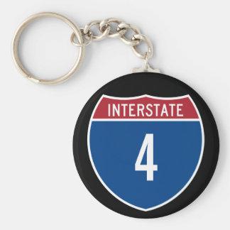 Interstate 4 keychain