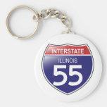 Interstate 55 in Illinois Keychain