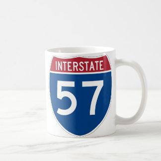 Interstate 57 Highway Sign Mugs