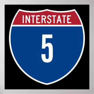 Interstate 5 print