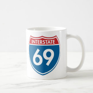 Interstate 69 coffee mug
