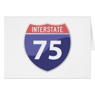 Interstate 75 (I-75) Highway Road Trip Card