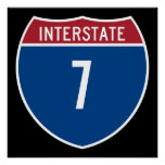 Interstate 7 poster