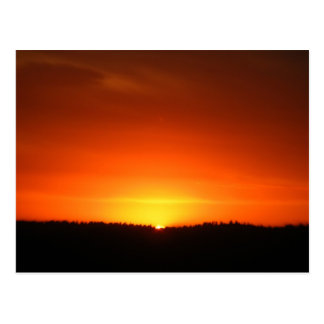 Interstate 80 Sunset Postcard