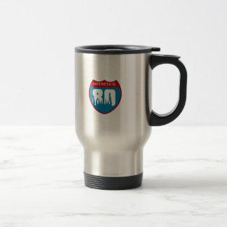 Interstate 80 travel mug