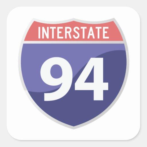 Interstate 94 (I-94) Road Trip Travel Sticker