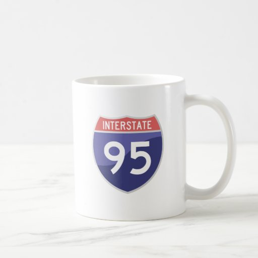Interstate 95 (I-95) Road Trip Travel Coffee Mug