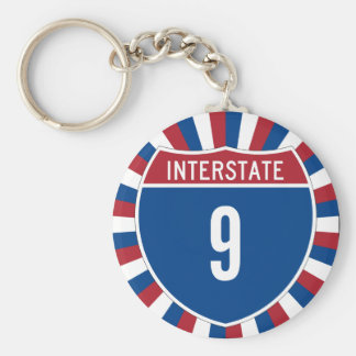 Interstate 9 key chains