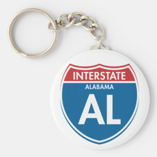 Interstate Alabama AL Keychain