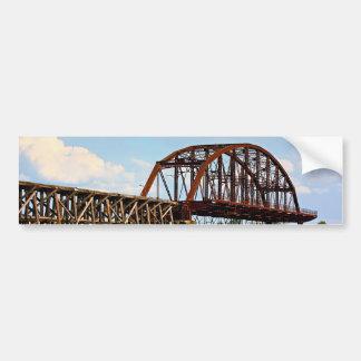 Interstate Bridge Fishing Pier Bumper Sticker