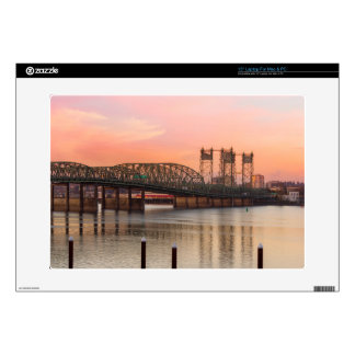 Interstate Bridge Over Columbia River at Sunset Skins For Laptops