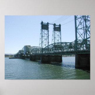 Interstate Bridge, Portland Oregon Poster