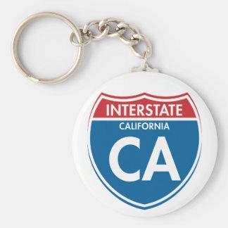 Interstate California CA Keychain