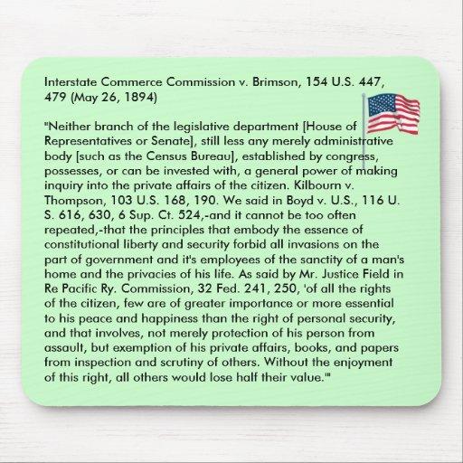 Interstate Commerce Commission v. Brimson Mouse Pad